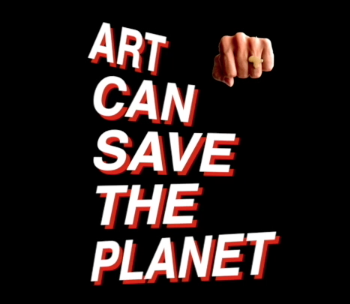 art can save the planet logo
