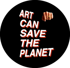 Art can save the planet logo round